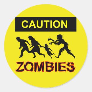 Pegatina de los zombis de la precaución