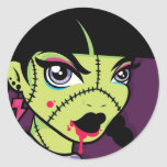 Pegatina de LoungeKat: zombi de los años 80 calcomanías