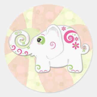 Pegatina de lujo lindo del elefante indio