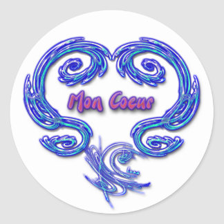 Pegatina de lunes Coeur (blanco)