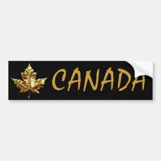 Pegatina de Mapleleaf de la medalla de oro de la p Pegatina De Parachoque