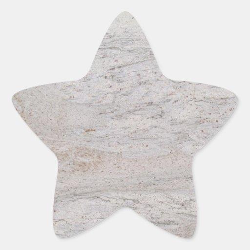 Pegatina de mármol blanco de la estrella