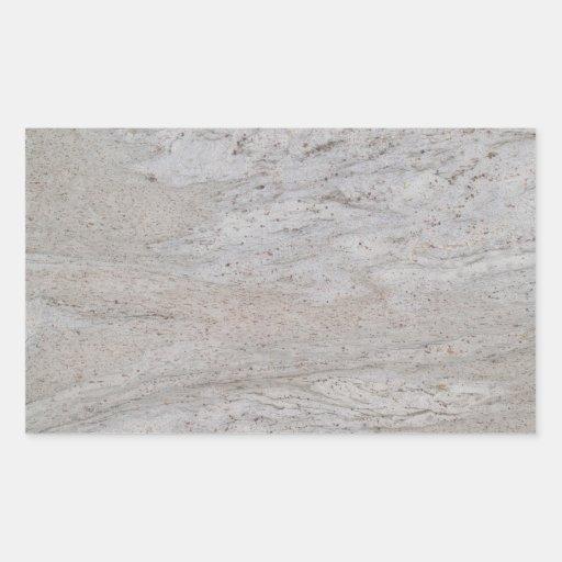 Pegatina de mármol blanco del rectángulo