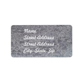 Pegatina de mármol negro de la dirección etiquetas de dirección