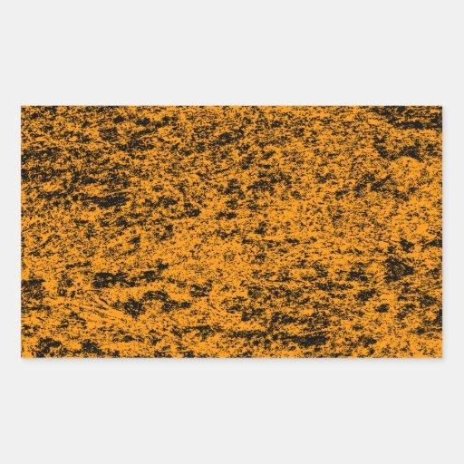 Pegatina de mármol negro y anaranjado del