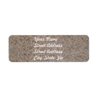 Pegatina de mármol oxidado del remite de Brown Etiquetas De Remite