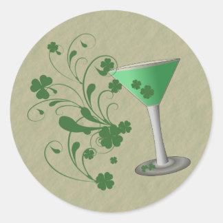 Pegatina de Martini del día de St Patrick