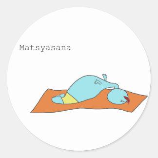 Pegatina de Matsyasana
