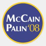 Pegatina de McCain-Palin