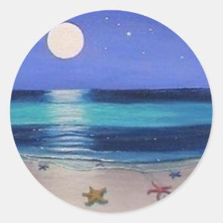 Pegatina de medianoche de la playa