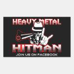 Pegatina de metales pesados del Hitman