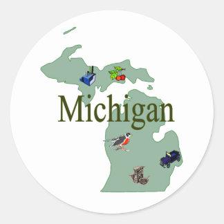 Pegatina de Michigan