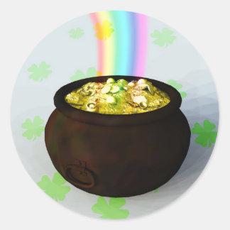 Pegatina de mina de oro afortunado