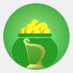 Pegatina de mina de oro del día de St Patrick
