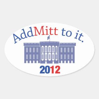 Pegatina de Mitt Romney
