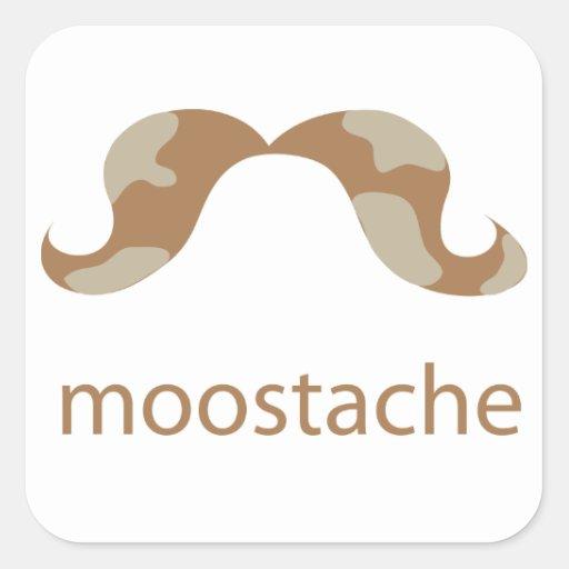 Pegatina de MOOstache