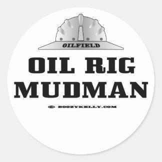 Pegatina de Mudman de la plataforma petrolera,