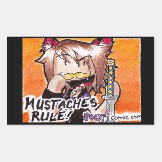 Pegatina de Ninja del bigote