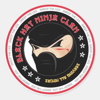 Pegatina de Ninja del gorra negro