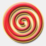 Pegatina de no. 1 del espiral