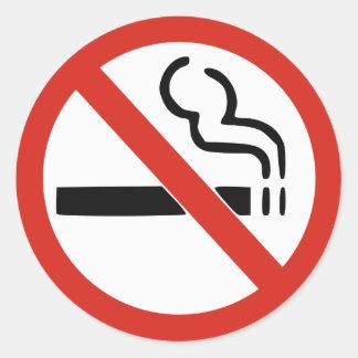 Pegatina de no fumadores