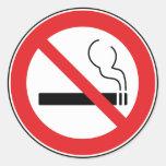 Pegatina de no fumadores de la muestra