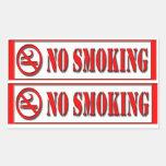 pegatina de no fumadores de la palabra