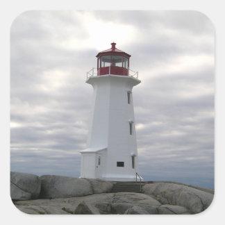 Pegatina de Nueva Escocia de la ruta del faro de