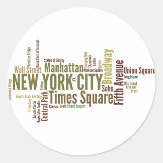 Pegatina de Nueva York