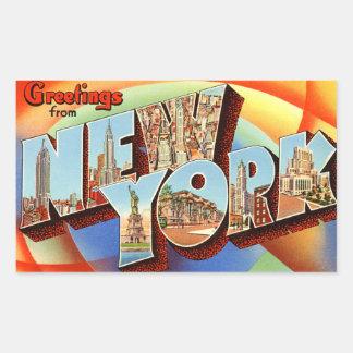 Pegatina de Nueva York del vintage