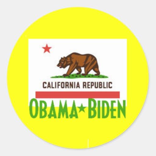 Pegatina de Obama Biden CALIFORNIA