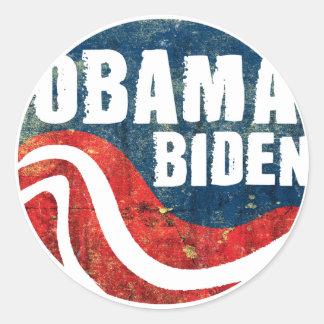 Pegatina de Obama Biden del Grunge