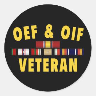 Pegatina de OEF y de OIF