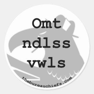 Pegatina de Omt Ndlss Vwls