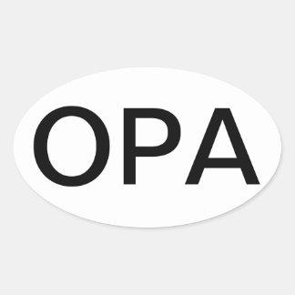Pegatina de OPA