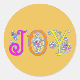 Pegatina de oro de la alegría