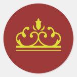 Pegatina de oro del cuento de hadas (rojo)