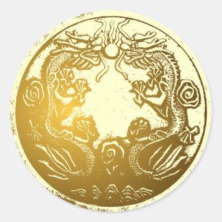 Pegatina de oro del sellador del sobre de los