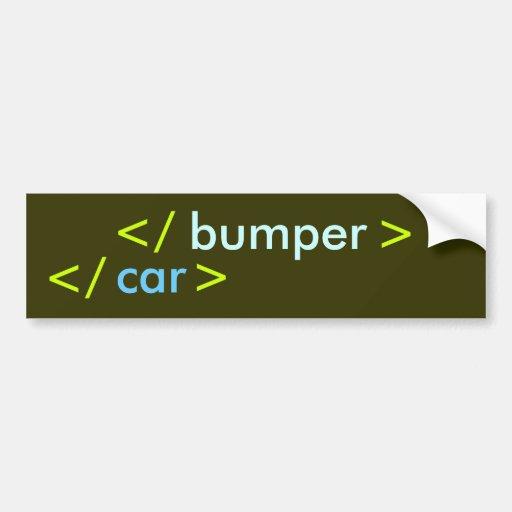 Pegatina de parachoques trasero - codificador pegatina para coche