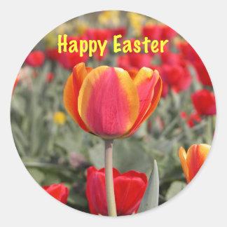 Pegatina de Pascua del jardín del tulipán