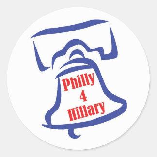 Pegatina de Philly 4 Hillary