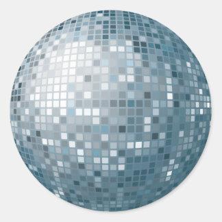 Pegatina de plata de la bola de discoteca