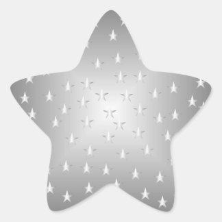 Pegatina de plata de la estrella