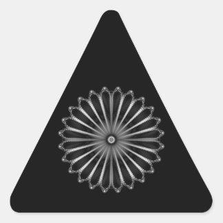Pegatina de plata del triángulo del botón