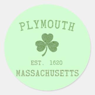 Pegatina de Plymouth mA
