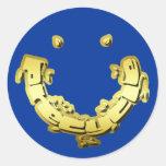 Pegatina de Precycle en letras de la hoja de oro