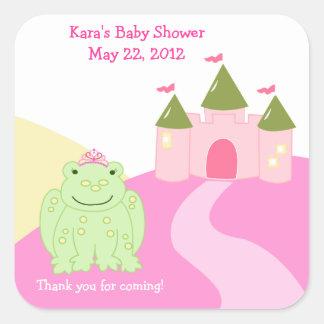 Pegatina de princesa Frog Fairytale SQUARE Favor