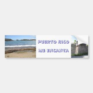 Pegatina de Puerto Rico Etiqueta De Parachoque