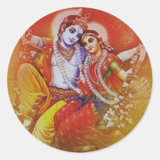 Pegatina de Radha Krishna