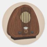 Pegatina de radio pasado de moda